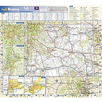 Amazon.com : Wyoming State Wall Map - 16.75\