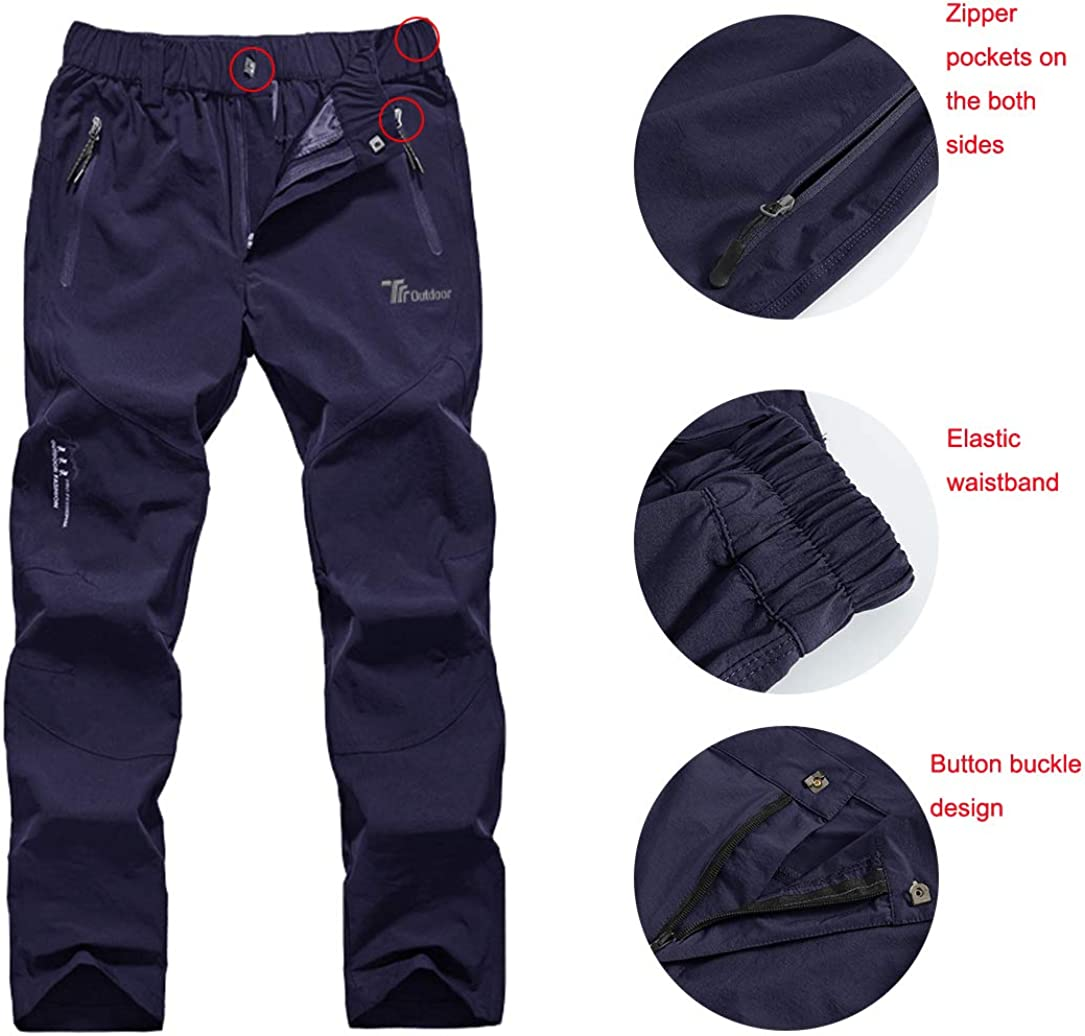 Gopune Mens Outdoor Lightweight Hiking Pants Breathable Quick Dry Climbing Mountian Pants
