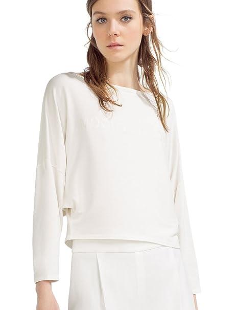 Zara - Camiseta Texto, Talla S