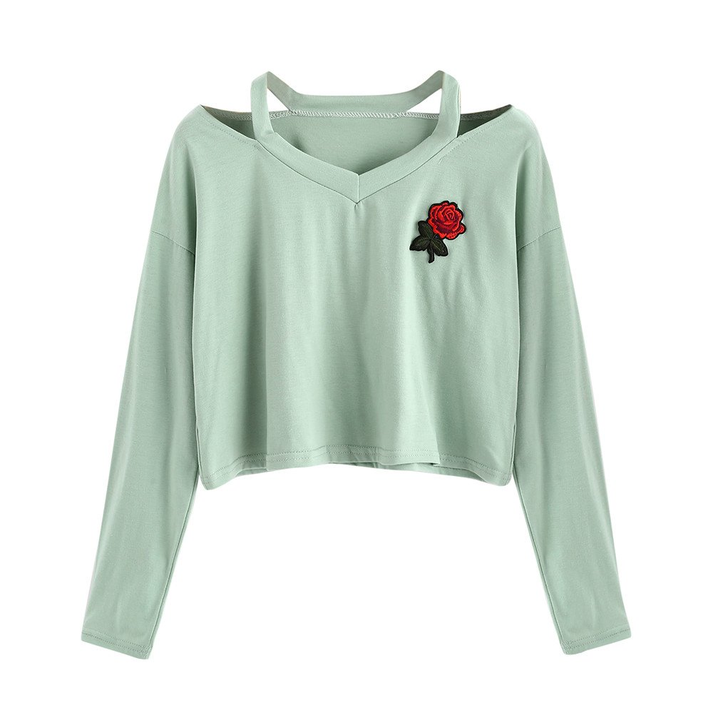 BOLUOYI Pullover Sweaters for Women Hoodies,Fashion Casual Womens Long Sleeve Sweatshirt Jumper Solid Blouse (Green, M)