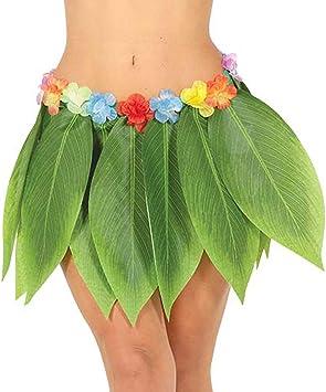 Original Falda de Hojas Hula / Verde / Accesorio para Disfraz ...