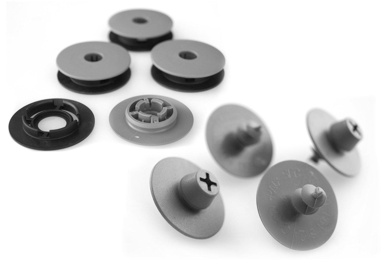 Amazon.es: Felpudos Impresión botón Fijación + Soporte Coche Alfombrillas