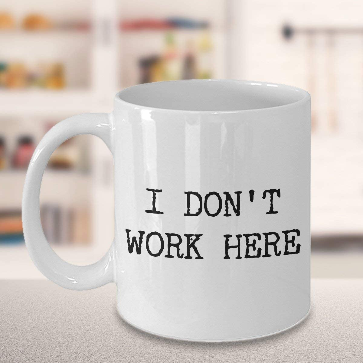 I Don't Work Here Mug Funny Coworker Gift Coworker Coffee Mug Work Coffee Mug Work Gifts for Men Work Gifts for Women Ceramic Coffee Cup