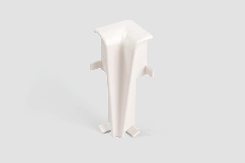 Universal Optik wei/ß matt Inhalt 2 St/ück EGGER Verbinder Sockelleiste Universal weiss f/ür einfache Montage von 60mm Laminat Fu/ßleisten Kunststoff robust
