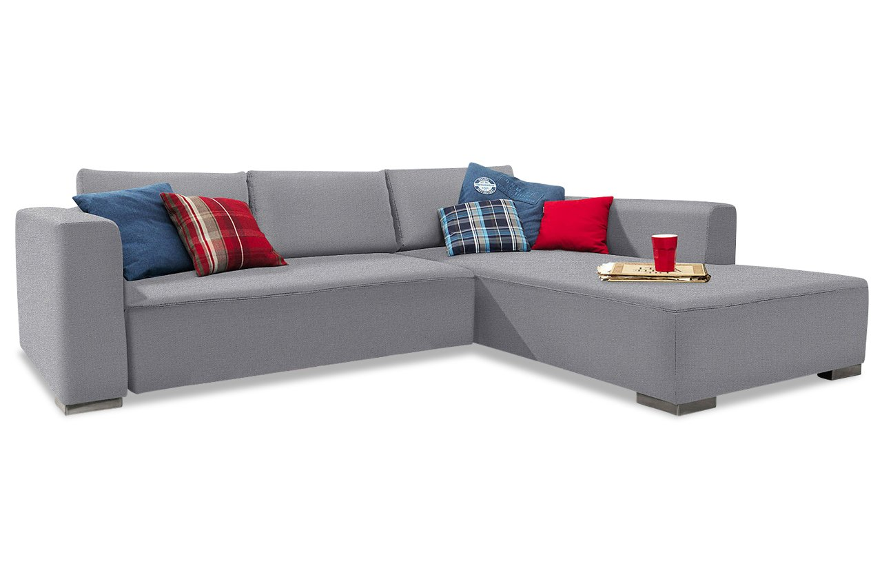 Sofa Tom Tailor Polsterecke M Heaven Style Color - Webstoff Granit
