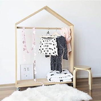Amazon.com: LIANGJUN Wooden Coat Rack Floor Standing ...