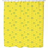 Honeycombs Prison Shower Curtain: Large Waterproof Luxurious Bathroom Design Woven Fabric