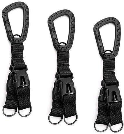 3pcs Belt Clip-on Nylon Molle Strap Webbing Buckles for Hanging Water Bottle