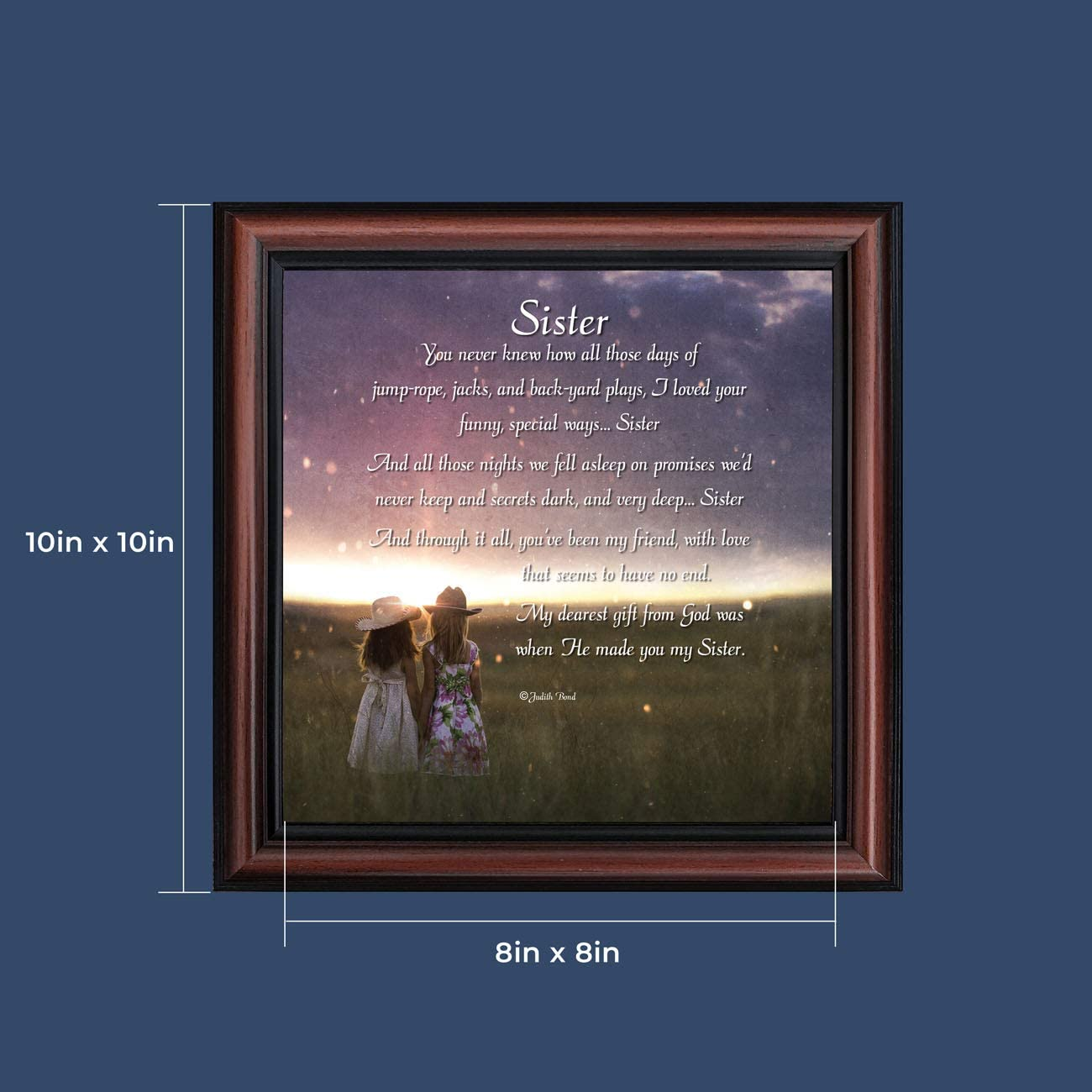 7336BW Your Friend Crossroads Home D/écor Sister Picture Frame Gift for Your Sister
