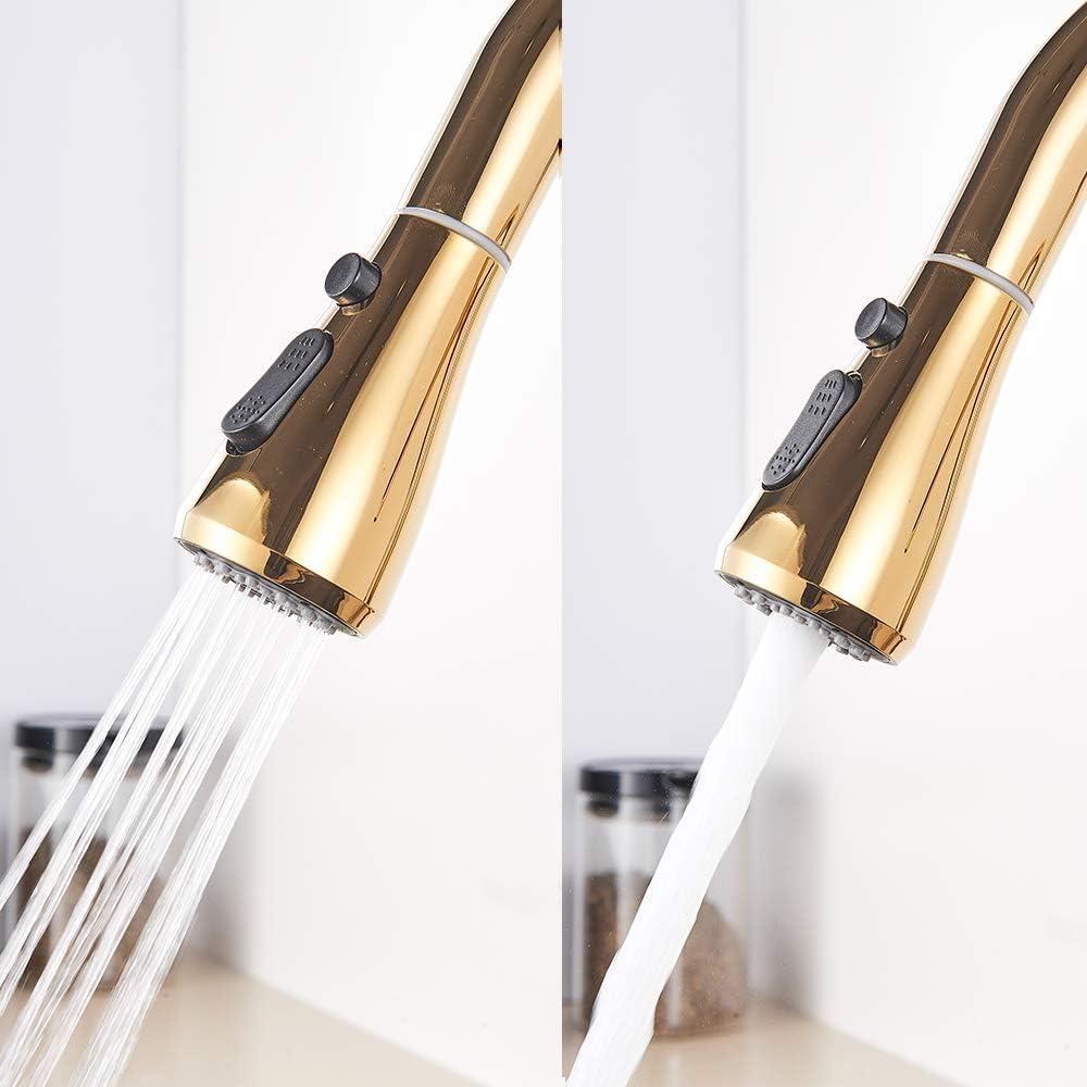 m/élangeur chaud et froid 3 voies pivotantes et filtr/ées Onyzpily Robinet de cuisine en laiton avec filtre /à eau pure bec verseur robinet de cuisine /à double poign/ée