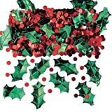 Amscan 14 G Holly With Berries Metallic Embossed Confetti Mix