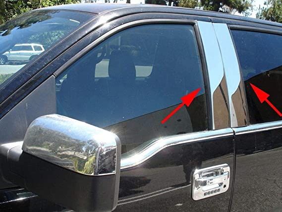 Works with 1998-2012 Lincoln Town Car L Post4PC Stainless Steel Chrome Pillar Post Made in USA