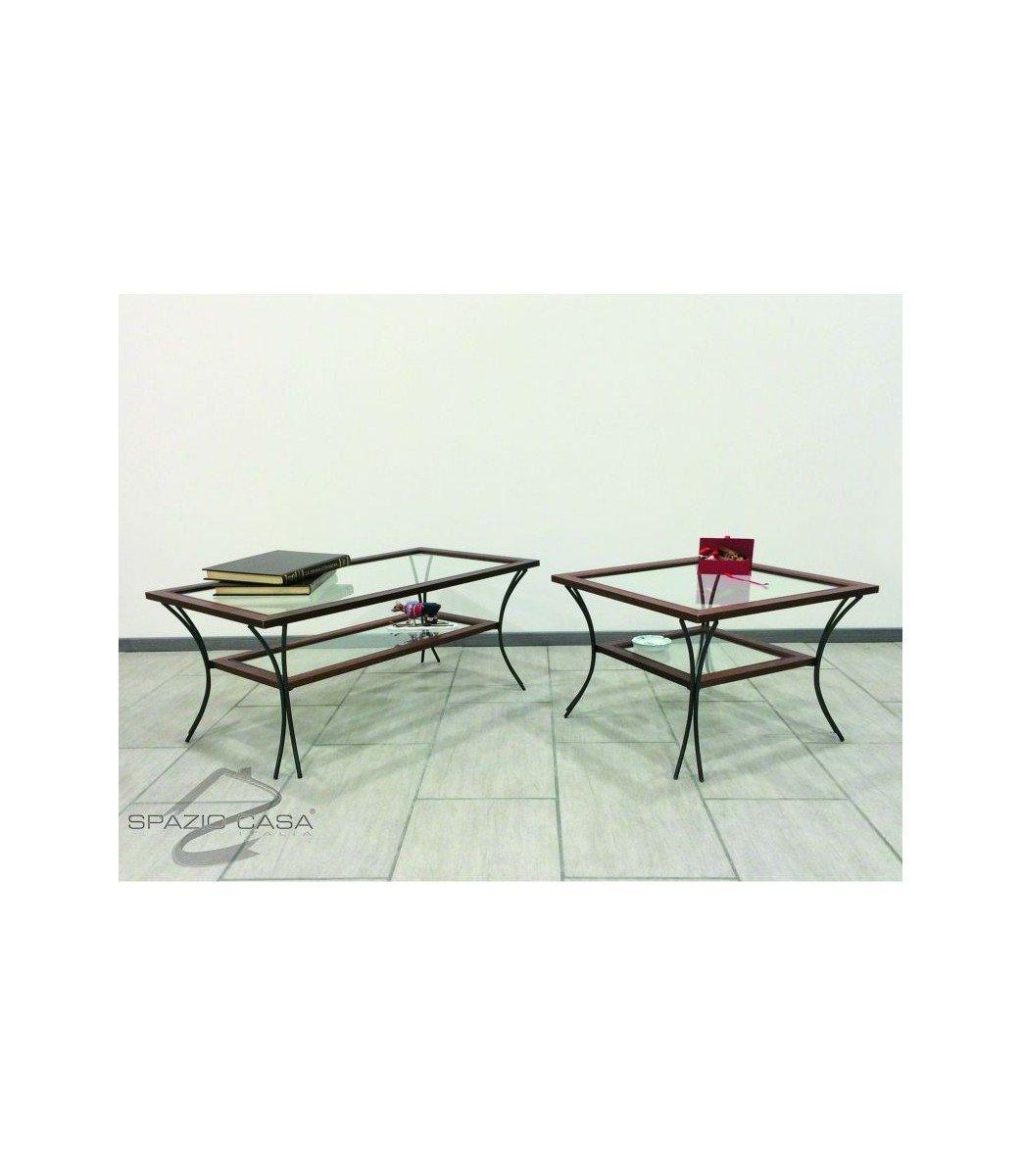 Tavolino Salotto Ferro Battuto.50 Spazio Casa Tavolino Da Salotto In Legno Con Piedi In Ferro