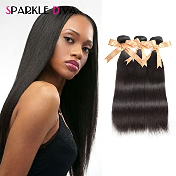 Amazon sparkle diva hair 8a straight remy weave brazilian sparkle diva hair 8a straight remy weave brazilian virgin human hair 3 bundles hair extensions natural pmusecretfo Images