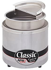 APW Wyott RCW-11SP - Food Warmer Package - Round 11 Quart, Includes Cooker, Inset, Cover and Ladle