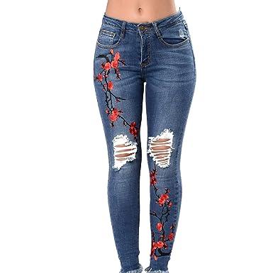 72a64aa33c Vaqueros Slim fit Mujer Talle Alto Flaco Pantalones Largos lápiz Pantalones  elásticos Stretch Jeans Pantalones de