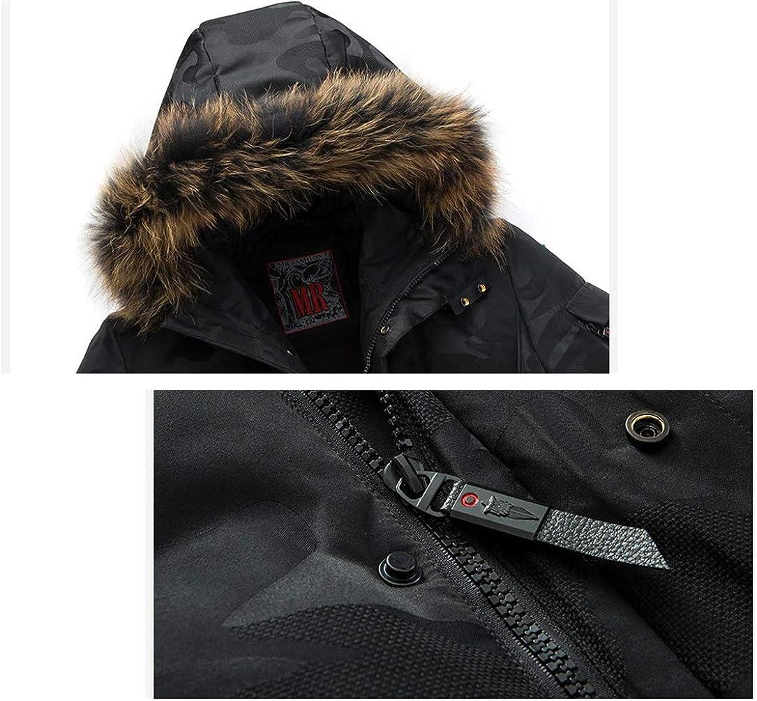 CXWLK Manteaux À Capuchon Col pour Les Vêtements pour Hommes Black