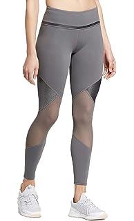 9c6e1ed42a2a7 JoyLab Women's Premium 7/8 Shine and Mesh Pieced High-Waisted Leggings -