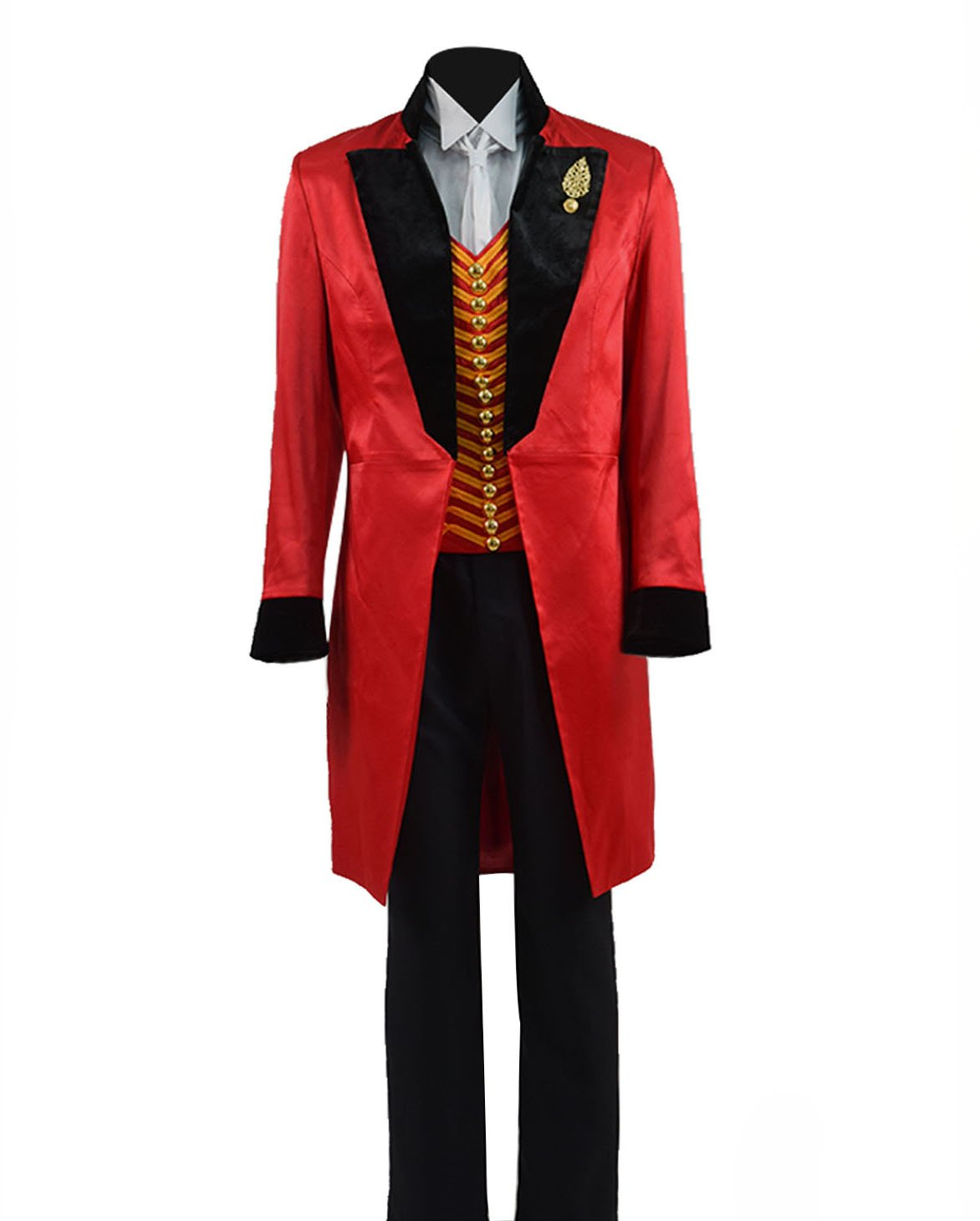VOSTE Greatest PT Barnum Cosplay Costume Performance Uniform Showman Party Suit (Medium, Red Black) by VOSTE