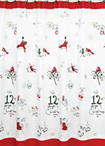 """Lenox American By Design 12 Days of Christmas Shower Curtain 72"""" x 72"""""""