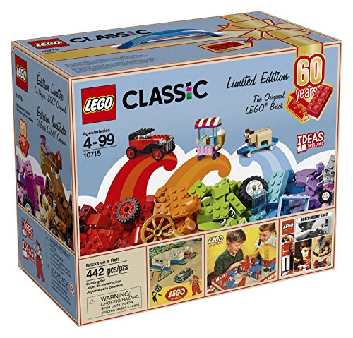LEGO Classic Bricks on a Roll 10715 - 60th Anniversary Limited Edition - 442 Pieces - Lego 7754