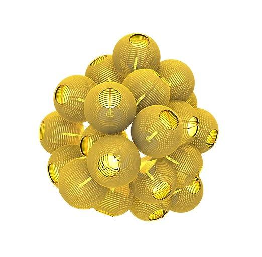 Gresonic 20er LED Lichterkette Lampion/Laternen Deko für Garten Weihnachten Party Hochzeit Innen und Außen mit dem Stecker (W