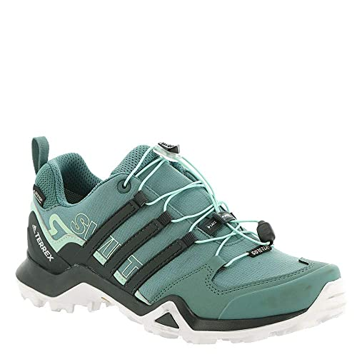 db5626e8e956d adidas outdoor Terrex Swift R2 Mid GTX Hiking Shoe - Women s Raw  Green Carbon