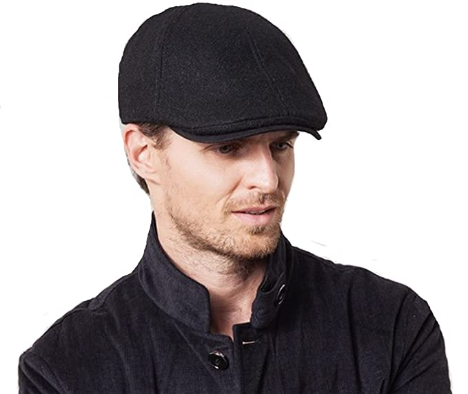 WENDYWU Men Fashion Berets Caps (black) at Amazon Men s Clothing store  1b7a3b77e8dd