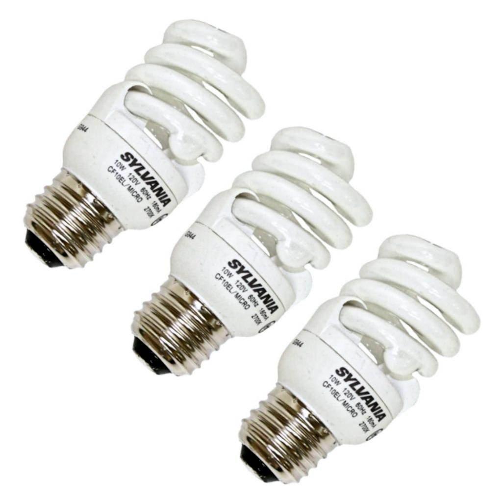 Sylvania 10 Watt Soft White (40 Watt Equivalent) CFL Bulb, 3-Pack