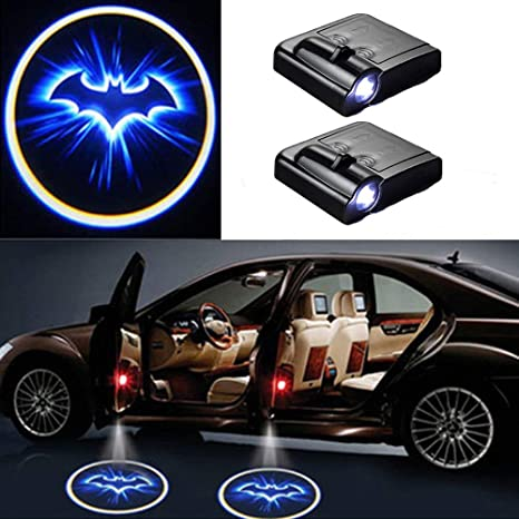 MIVISO 2 Piece Wireless Car Door Led Welcome Laser Projector Batman Logo Light Ghost Shadow Light