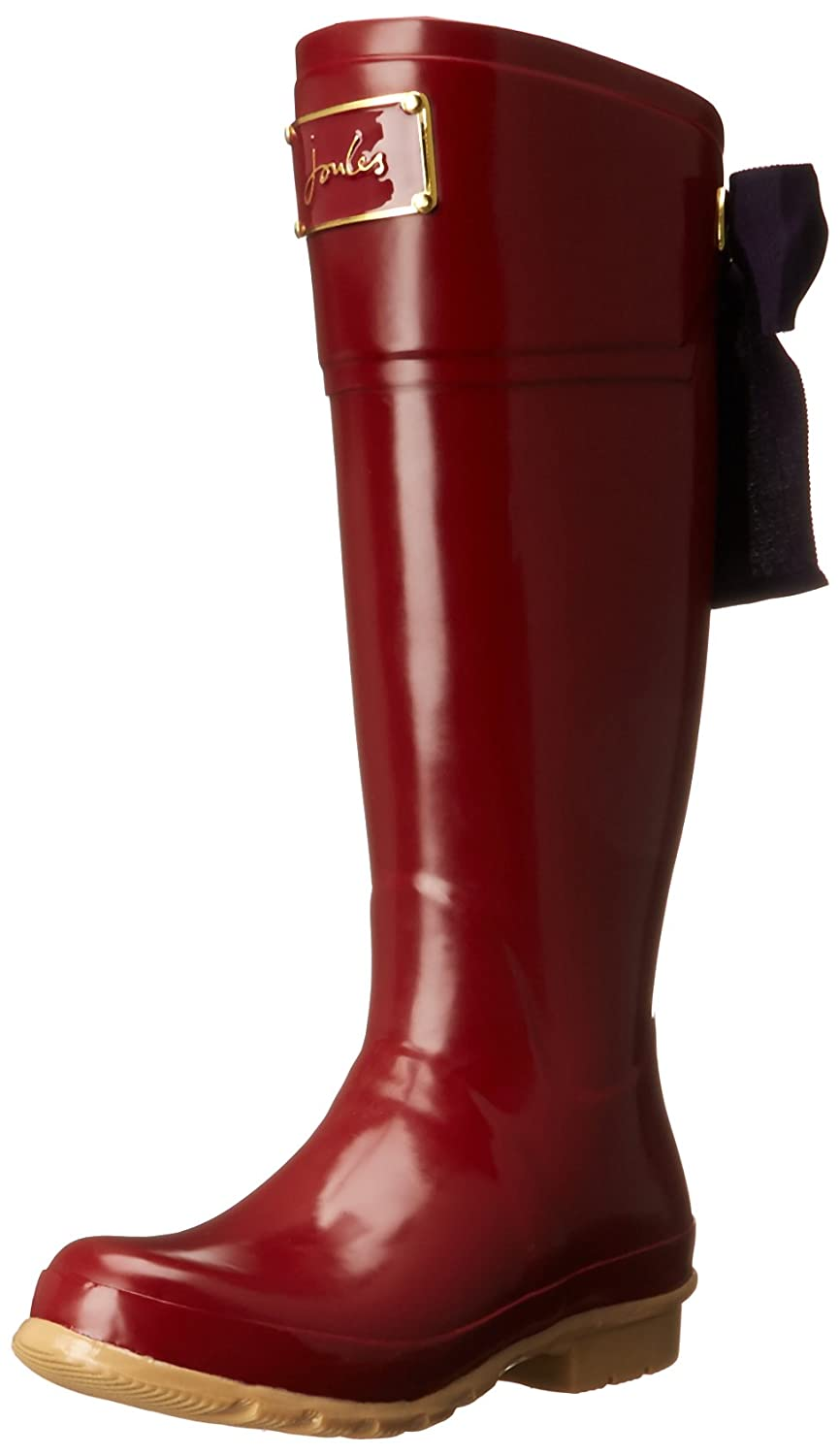 Joules Evedon Women's Riding Rain Boots Rubber Wellies B00QLU2NWG 7 M US|Red