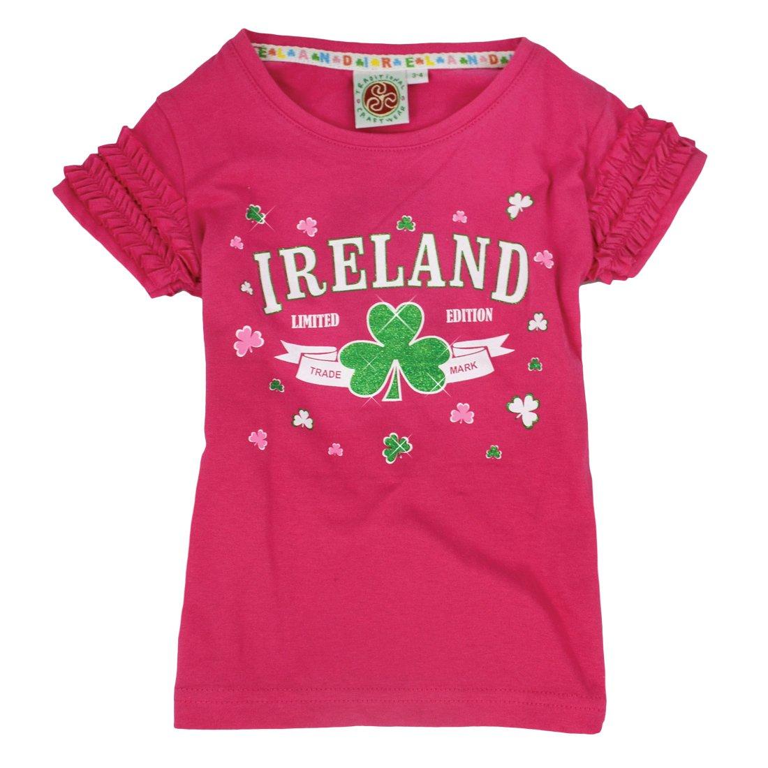 Irish Baby - Camiseta Rosa volantes con marca de Irlanda y ...