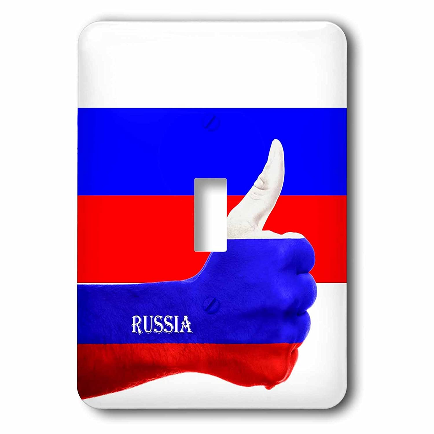 Single Toggle Switch 3dRose lsp/_211354/_1 Flag Of Russia Thumbs Up Pride