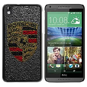 Individual Design Phone Case Of porsche LOGO Black Popular Sale HTC Desire 816 Phone Case