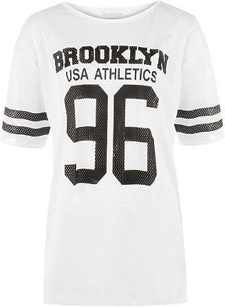 07b28a3dd839 LCL-Femme 96 Brooklyn Nets T-Shirt Baggy Extra Large Femme NUMÉRO 96  Brooklyn