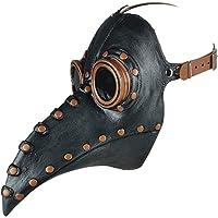 VALICLUD Pest Dokter Masker Steampunk Vogel Snavel Masker Maskerade Partij Masker Halloween Kostuum Rekwisieten (Zwart…