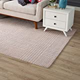 Modway R-1024B-58 Kaja Abstract Plaid 5x8 Area Rug, Twin, Ivory/Cameo Rose and Light Blue