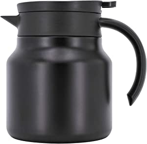 SDREAM Coffee Carafe? Heavy Duty Double Walled? ?Vacuum Insulated? ?Thermos ?- Beverage Dispenser ?with? ?Strainer? ?for? Tea, ?Infused Drinks and Water ?- 27 oz, Black
