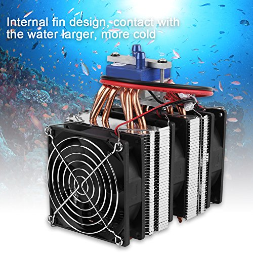- DC 12V Thermoelectric Cooler Peltier System Semiconductor Refrigeration Water Chiller Cooling Device for Fish Tank(120W (for 30L Tank))