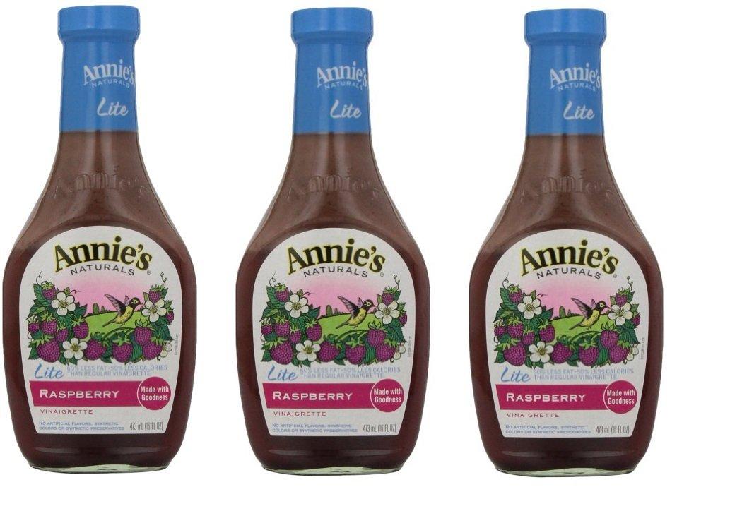 Annie`s Natural Dressing ,Lite Raspberry ,8 Fl oz, (Pack of 3)