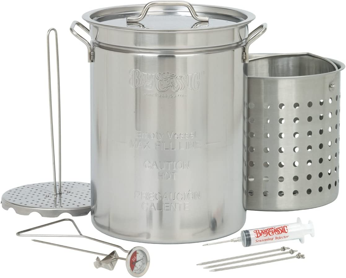 Bayou Classic 1118 32-Quart Stainless Steel