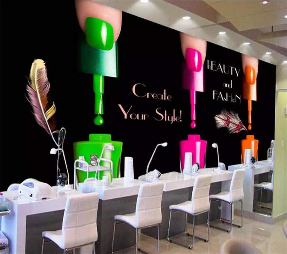 Benutzerdefinierte Tapete 3D Foto Wandbild Schwarz Nagellack Nail Shop Tv Hintergrund Wand Wohnzimmer Schlafzimmer Tapete 3D Wandbild, 350Cmx245Cm