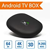 S14 Amlogic S905 Quad Core Android TV Box 5.1 Quad-Core Cortex A53 64 Bits 1G/8G UHD Media Player Support 3D 60fps with Remote Controller and Power Adapter