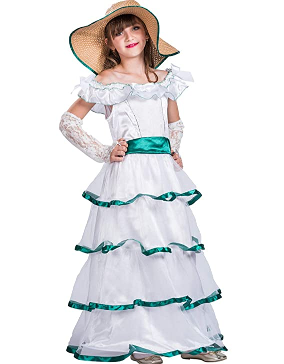 Vintage Style Children's Clothing: Girls, Boys, Baby, Toddler Christmas CostumeGirls Princess Costume Cute Lace Southern Belle Halloween Costume Dress for Kids Girls $35.99 AT vintagedancer.com