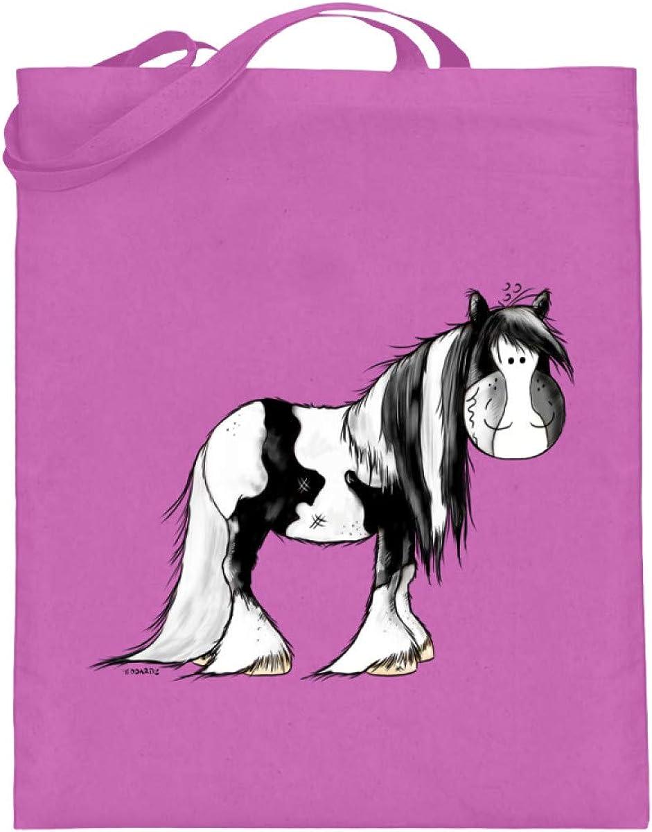 Drolliger Schecke - Bolsa de yute con asas largas, diseño de caballo