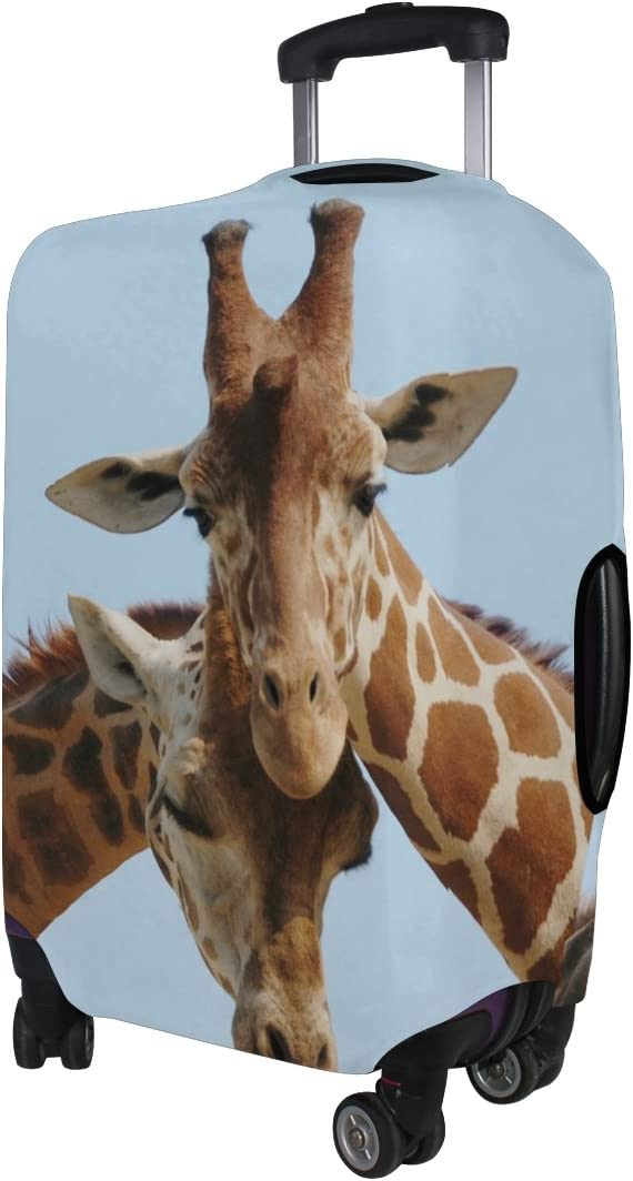 LEISISI Giraffes Luggage Cover Elastic Protector Fits XL 29-32 inch Suitcase