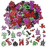 500PCS Glitter Halloween Foam Craft