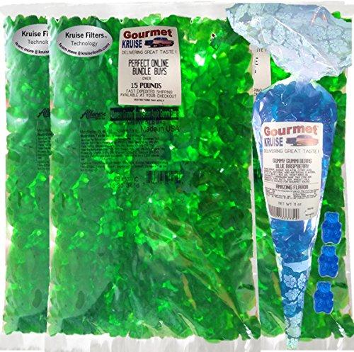 Bulk Candy Gummi Bears Green Apple Albanese -5 POUND Bags wi