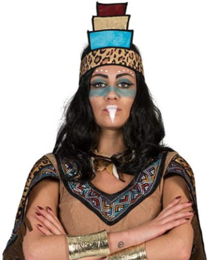 Funny Fashion Disfraz de Mujer Azteca Maya: Amazon.es: Deportes y aire libre