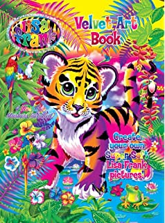 Amazon.com: Lisa Frank Velvet Coloring Sheet Art Kit and Markers ...